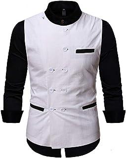 Mens Suits Waistcoats Casual Slim Fit Vest Double Breasted Crew Neck Elegant Casual Waistcoat Business Premium Vest Waistc...