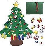 Sxfcool Sentido árbol de Navidad, 32pcs DIY Árbol de Navidad Conjunto de árbol de Navidad 3.2 pies Decoración Colgante para niños Decoración de la Pared de la Puerta (azul1)