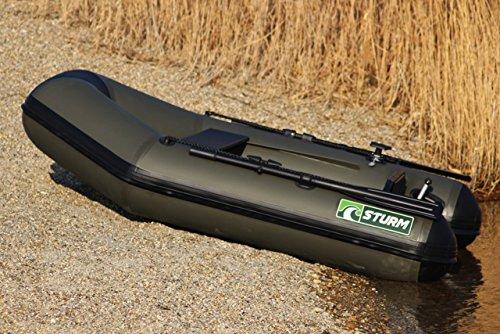 Schlauchboot STURM STALKER 220 mit Airdeck (Hochdruck-Luftboden), Multifunktionsplattformen, Geberstange und Echolothalterung
