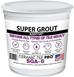 SGA 6 - Super Grout Additive Premium Waterproof Tile Grout Repair Kit (Grout Sold Separately) - Kit Includes Applicator - Mixing Cups & Sticks - Makes 18 oz Epoxy Grout - Made in USA