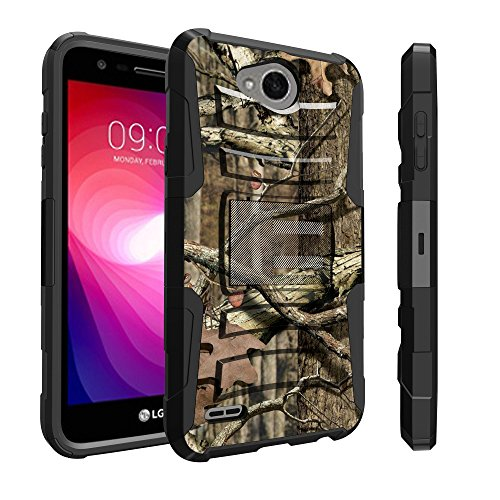 Untouchble Case for LG X Power 2 Camo Case, LG Fiesta LTE Holster Case, LG X Charge Case [Heavy Duty Clip] Dual Layer Rugged Hybrid Armor [Kickstand] [Swivel Holster] - Real Hunter Camo