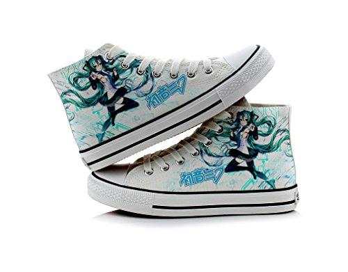 Miku Schuhe Leinwand Schuhe Sneakers colourful1, Damen, bunt, 6 B(M) US Female