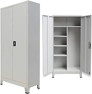 vidaXL Storage Locker Cabinet Steel Office File Tool Organizer Cupboard Wardrobe