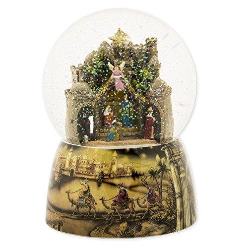 Nativity Town 100MM Musical Christmas Glitterdome Plays Tune ...