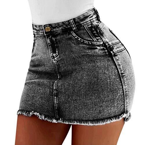 Sylar Falda Vaquera Mujer Minifaldas De Mezclilla Faldas Mujer Cortas Cintura Alta Falda De La Cadera De Las Señoras Sexy Jeans Cortos