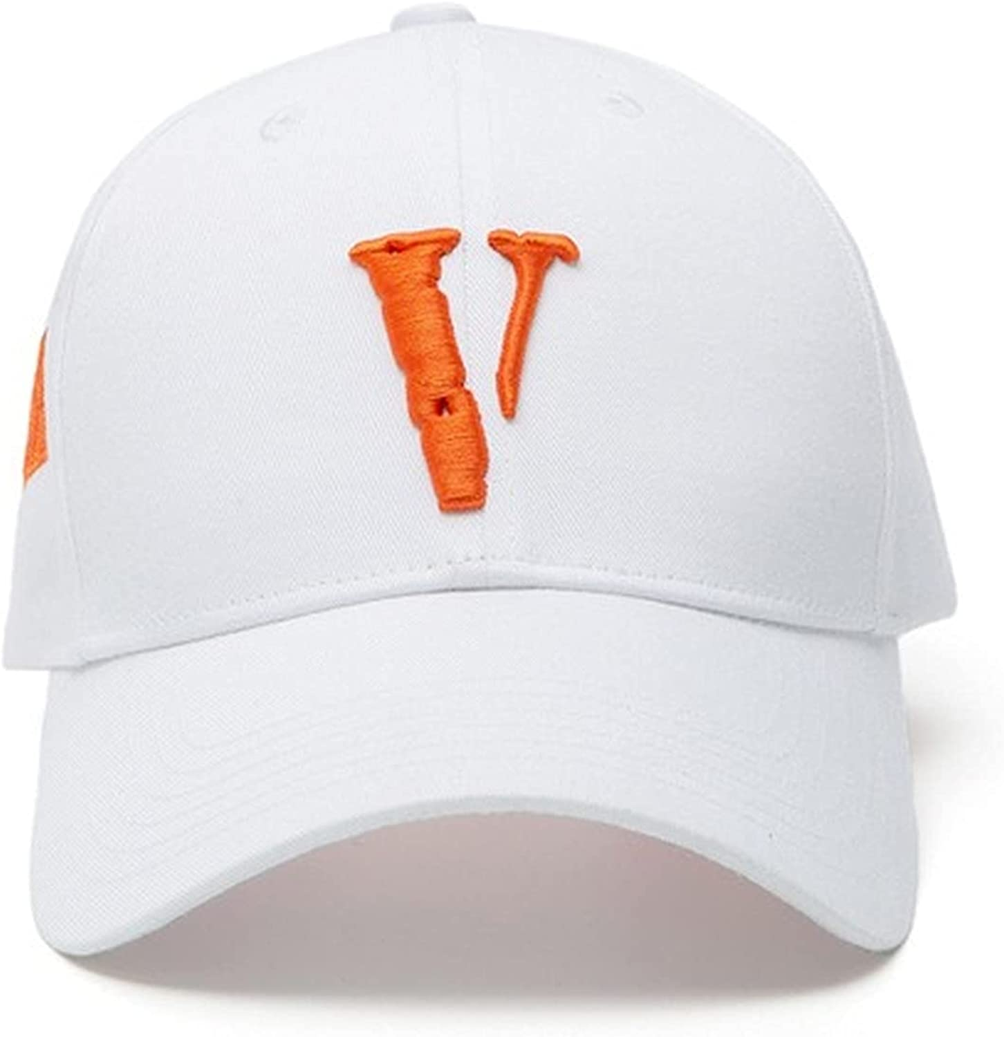 Aluo Vlone Men's and Women's Sports Cap Big V Letter Knitted Logo Joint Hat Fashion Casual Outdoor Sunshade Baseball Caps