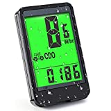 CrazyFire Bicycle Speedometer, Big Screen Bike Computer,LCD Luminous Waterproof Cycling Computer,Tracking Distance Avs Speed Time Odometer for Bicycle Enthusiasts