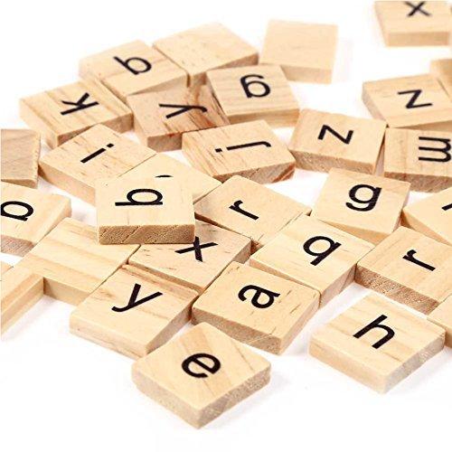 Trimming Shop Set van 200 Houten Scrabble Tegels Letters voor Bordspellen, Muurdecoratie & Kunsten en Ambachten