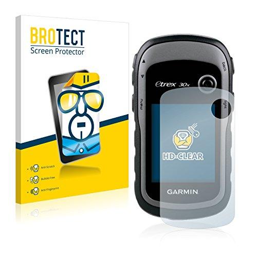 BROTECT Protector Pantalla Compatible con Garmin eTrex 30x Protector Transparente (2 Unidades) Anti-Huellas
