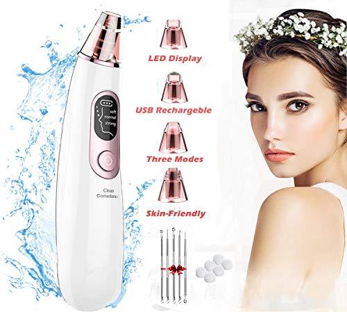 Gesichtsreinigungsbürste, 5 in 1 elektrisches wasserdichtes Ultraschall Reinigungssystem tragbares Gesichtspeeling-Reinigungsmittel wiederaufladbares Gesichtsmassagegerät mit 5 Bürstenköpfen