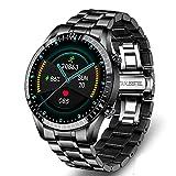 XYZK Orologio intelligente I9A con chiamata Bluetooth, con pressione sanguigna/ossigeno nel sangue e monitoraggio della frequenza cardiaca, orologio fitness, contapassi, orologio sportivo (B)