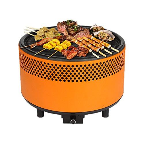 Barbecue de Table Peu Fumée avec Ventilateur Électrique pour Jardin Terrasse Balcon...