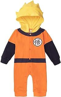 Sibaway – Traje de bebé Super Héro DBZ| Body pijama para niño | Disfraz de bola de dragón | Disfraz original y rígido | 10...