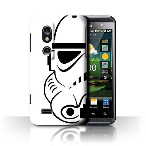 Stuff4 Phone Case for LG Optimus 3D P920 Assault Trooper Helmet Stormtrooper Design Transparent Slim Hard Cover