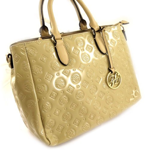 Francinel [L1011 - 'french touch' tasche 'Scarlett' taupe (lack).