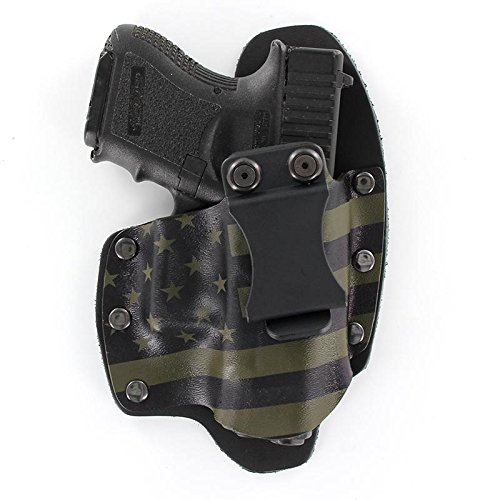 USA Green & Black IWB Hybrid Concealed Carry Holster (Right-Hand, Fits Glock 17,19,22,23,25,26,27,28,31,32,34,35,41 (19X,17,19,26 Gen5)