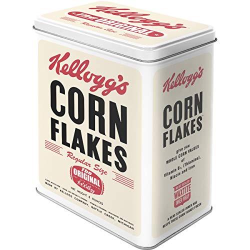 Nostalgic-Art Contenitori di Latta retrò L Kellogg's – Corn Flakes Package – Idea Regalo per la Cucina, Metallo, Design Vintage, 3 l