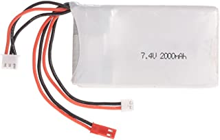 Goolsky Batería Lipo 2S 7.4V 2000mAh 8C Lipo Batería para FrSky Taranis Q X7 2.4G ACCST 16CH Control Remoto RC Transmisor
