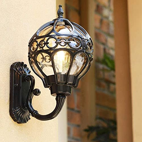 XQMY Simple And Cool Wall LampGlobe nce Light Professional Aluminum Outdoor Wall Lamp IP6 5 of High Light Glass Wall for Gardens Paths os Garages Courtyards