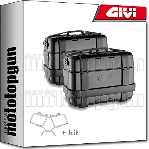 givi portamaletas lateral + maletas lateral trekker trk33bpack2 compatible con benelli trk...