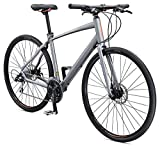 Schwinn Vantage F2 Mens/Womens Sport Hybrid Bike, 24-Speed Drivetrain, 56cm/Medium Aluminum Frame,...