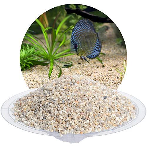 Schicker Mineral Aquariumsand Aquariumkies beige im 25 kg Sack, kantengerundet, gewaschen, ungefärbt, (2,0-3,15 mm)