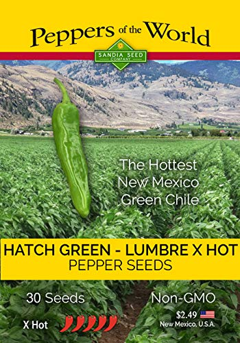 Hatch Green Lumbre XHot Green Chile - 30 Seeds - Heirloom NonGMO Pepper