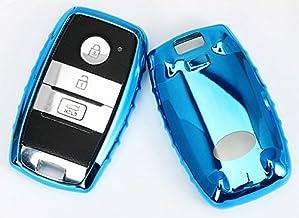 BizTech ® Cubierta de la llave del coche para KIA, resistente a los golpes, resistente a los arañazos, efecto de espejo de metal cromado, protección contra parachoques, decoración brillante