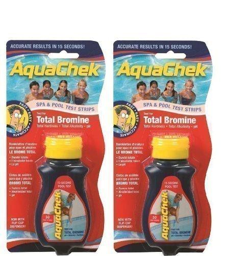 Aquacheck Happy Hot Tubs 2 Pack Red Brom Aquachek Pool & Spa Teststreifen Gesamte Alkalinität pH-Härte Quick Dip Sticks TA + - Strip Aqauchek Schwimmwasseraufbereitung