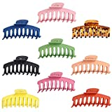 9 Pcs Hair Clips Big Hair Claw Clips for Women, 4.3 Inch Nonslip Matte Large Claw Clip for Girls Thick Hair, Strong Hold Hair Clips 9 Colors