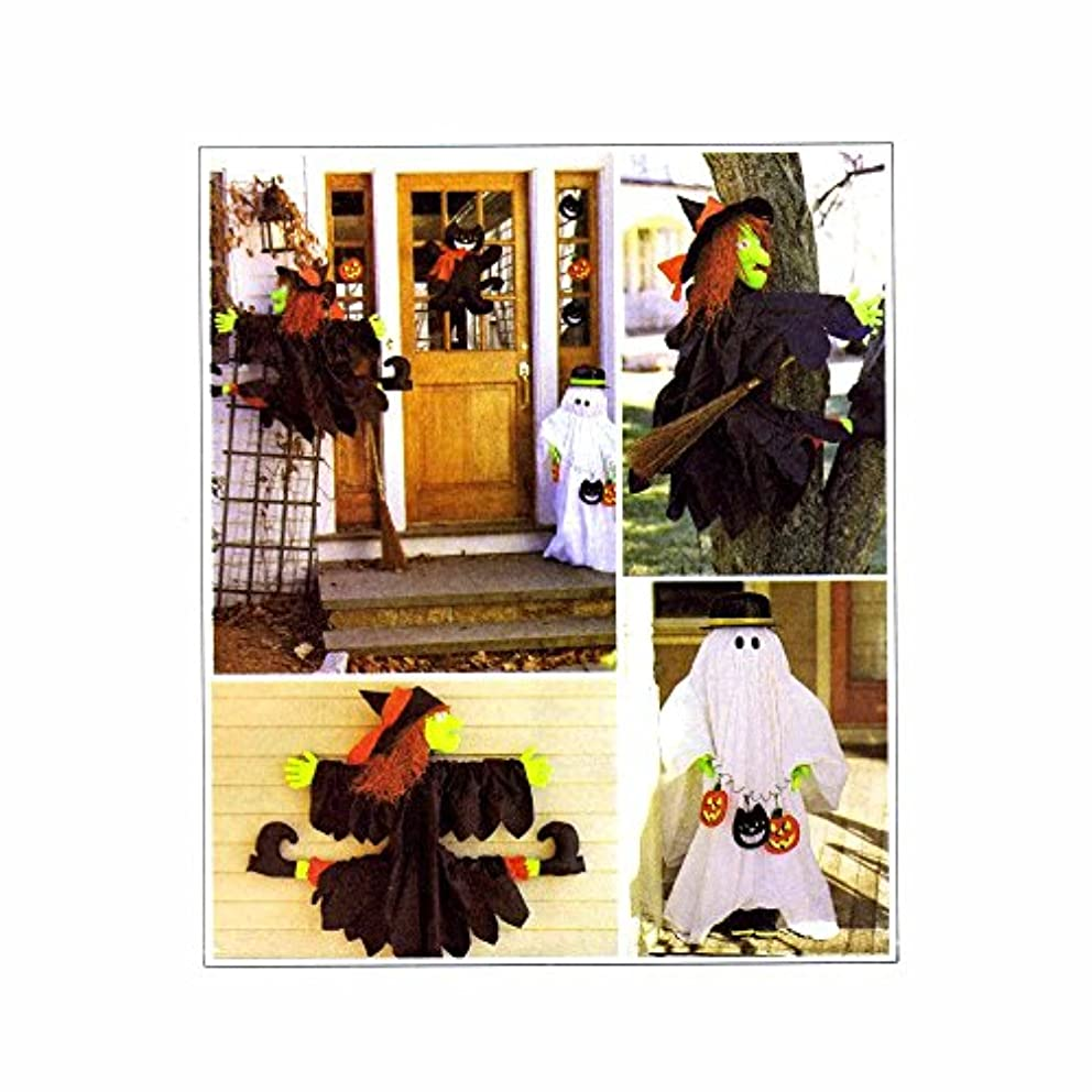 McCall's Crafts, Halloween Decorations, Tree Witch, House Witch, Ghost Greeter, Door Cat and Cat and Pumpkin Ornaments Sewing Pattern # 2329