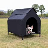 AmazonBasics Elevated Portable Pet House - Small, Black