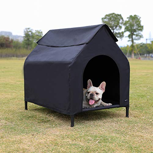 Amazon Basics Elevated Portable Pet House, Small (35 x 32 x 26 Inches), Black