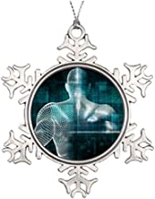 Dozili Christmas Tree Decoration Healthcare System Network As A Digital Technology Family Snowflake Ornaments Merry