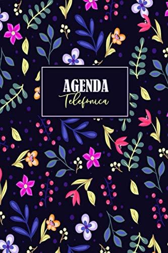 Agenda Telefónica: Agenda de contactos con más de 400 espacios | Bloc de notas para mantener junta la información de contacto (direcciones, números de teléfono y correos electrónicos), formato A5