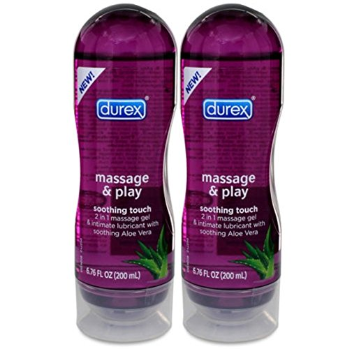 Durex Massage and Play Soothing Touch 2 in 1 Massage Gel & Intimate Lubricant with Soothing Alo Vera. : Size 6.76 Fl Oz by Durex