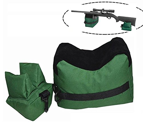Tikteck Shooting Rest Bag – Outdoor Rifle Hunting Gun Accessories Target Sports Bench,Front & Rear Bags for Shooter Hunter,Unfilled,Green