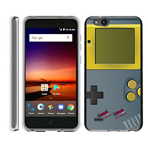TurtleArmor | Compatible with ZTE Avid 4 Case | ZTE Tempo X Case | Blade Vantage Case [Flexible Armor] Slim Fitted Soft Clear Flexible TPU Case Bumper Cool - Gray Gameboy