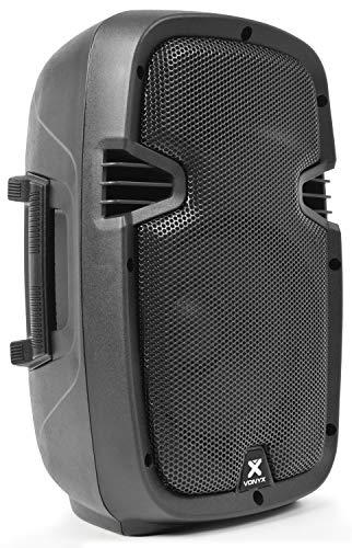 Skytec SPJ800A Cassa attiva amplificata diffusore (200 Watt, subwoofer da 20 CM, tweeter, XLR, ABS, MIC IN)
