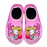 IceUnicorn Toddler Water Shoes Kids Quick Dry Water Swim Socks Boys Girls Non Slip Aqua Socks for Beach Swim Pool(Pink Toddler Size 6)