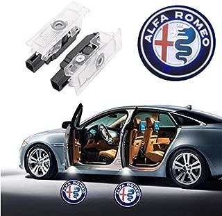 Car Door LED Lighting Entry Ghost Shadow Projector for Alfa Romeo Stelvio Giulia Accessories Welcome Lights Car Door Lights 2 Pack