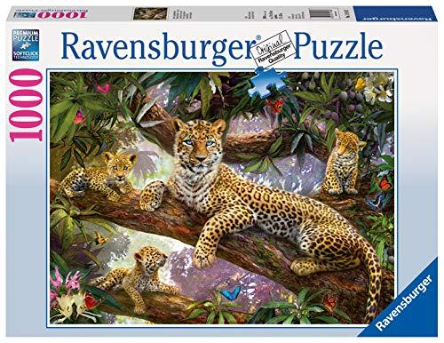 Ravensburger Puzzle Puzzle 1000 Pezzi, Leopardo, Puzzle Animali, Puzzle per Adulti, Puzzle Ravensburger - Stampa di Alta Qualità