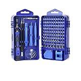 Set Destornillador 138/115/112 en 1 Magnético Torx Phillips Tornillo Kit de bits de Tornillo con Destornilladores eléctricos Llave de reparación Teléfono PC Herramientas (Color : 115 Blue)