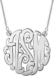 Best monogram necklace custom Reviews
