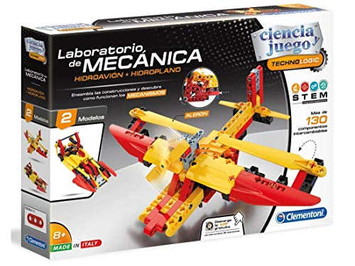 Clementoni Ciencia y Juego- Hidroavión Laboratorio de Mecánica, Multicolor (55344)
