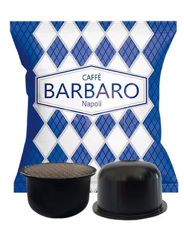CAFFE' BARBARO Napoli Capsule compatibile con la nuova macchina aroma vero 2021, miscela Cremoso Napoli Miscela Blu - 100 Capsule