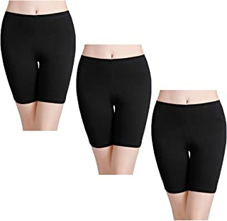 Women's Anti Chafing Cotton Underwear Boy Shorts Bike Long Leg Multipack