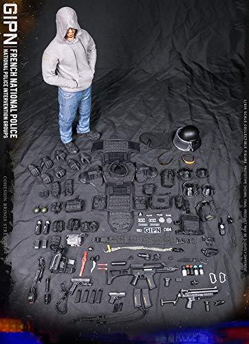 1/6 Escala Figuras De Acción Militar Equipo De Intervención De La Policía Nacional Francesa Marsella Modelo De Soldado para Regalo De Fans