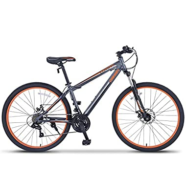 ORKAN 27.5  MTB Shimano Hybrid 21 Speed Mountain Bike Mountain Bike Grey & Orange