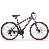 ORKAN 27.5' MTB Shimano Hybrid 21 Speed Mountain Bike Mountain Bike Grey & Orange